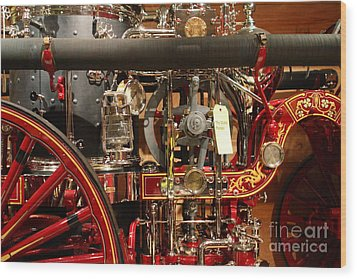 Classic Vintage Fire Engine . 7d13130 Wood Print by Wingsdomain Art and Photography