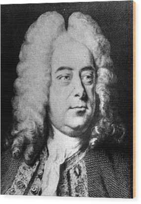 Classical Composer George Frideric Wood Print by Everett