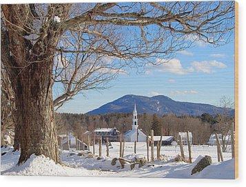 Classis Tamworth Trees Winter Wood Print