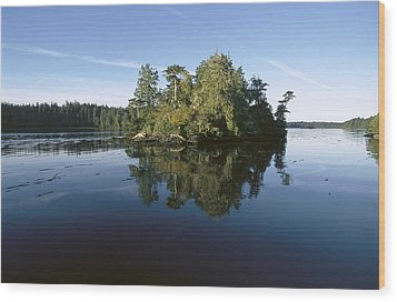 Clayoquot Sound Vancouver Island Wood Print by Flip Nicklin