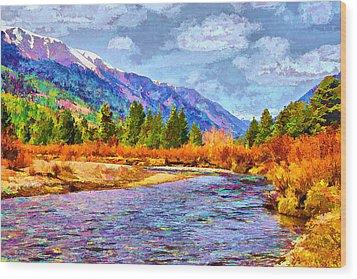 Clear Creek Vista Wood Print