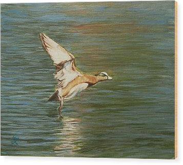 Clear For Takeoff Wood Print by George Kramer