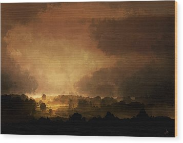 Clearing Storm Wood Print by Ron Jones