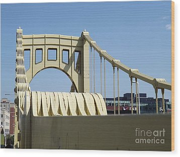 Clemente Bridge Wood Print by Chad Thompson