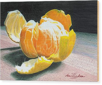 Wood Print featuring the painting Clementine by Ana Tirolese