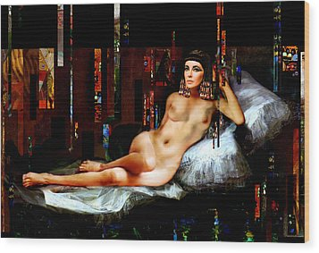 Cleopatra Nude Wood Print