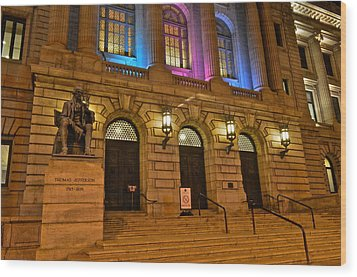 Cleveland Court House Wood Print by Frozen in Time Fine Art Photography