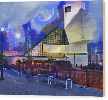 Cleveland Rocks Wood Print by Anthony Caruso