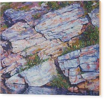 Cliff At Montlake Wood Print