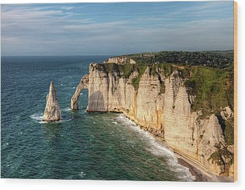 Cliff needle In Etretat, France Wood Print by Rogdy Espinoza Photography