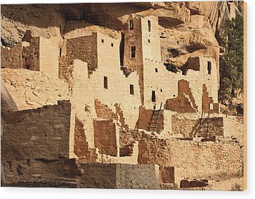 Cliff Palace Wood Print by Adam Pender