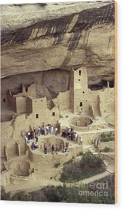 Cliff Palace Kiva Mesa Verde Wood Print by John  Mitchell