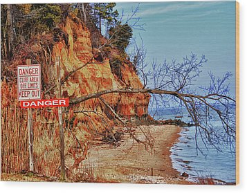 Wood Print featuring the photograph Cliffs by Kelly Reber