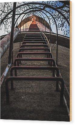 Wood Print featuring the photograph Climb Away by Matti Ollikainen