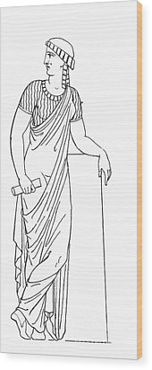 Clio, Muse Of History Wood Print by Granger