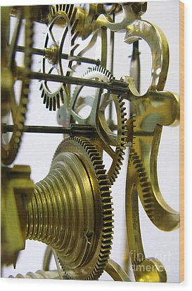 Clockwork Wood Print by John Chatterley