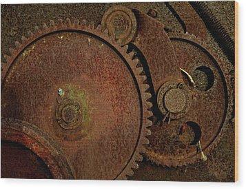 Clockwork Rust Wood Print by Odd Jeppesen
