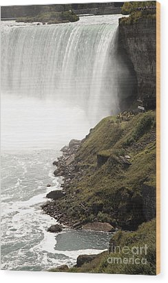 Close To The Falls Wood Print by Amanda Barcon