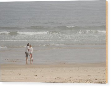 Close To You - Jersey Shore Wood Print by Angie Tirado