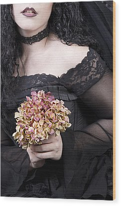 Wood Print featuring the photograph Close Up Of Beautiful Young Woman by Ethiriel  Photography
