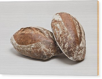 Close Up Of Loaves Of Bread Wood Print by Henn Photography