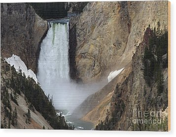Wood Print featuring the photograph Close Up Of Lower Falls by Living Color Photography Lorraine Lynch