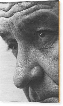 Close Up Of President Lyndon Johnson Wood Print by Everett