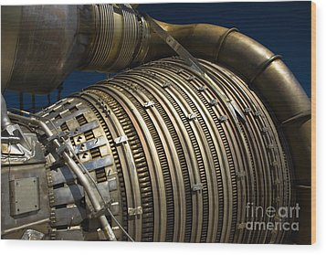 Close-up View Of A Rocket Engine Wood Print by Roth Ritter