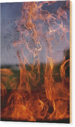 Close View Of Fire Wood Print by Brian Gordon Green