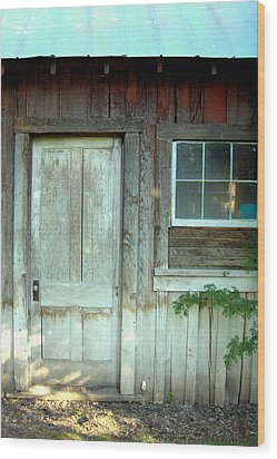 Closed Wood Print