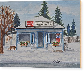 Closed For Season Wood Print by Andrea Timm