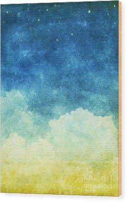 Cloud And Sky Wood Print by Setsiri Silapasuwanchai