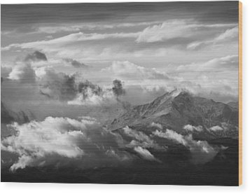 Cloud Art Wood Print