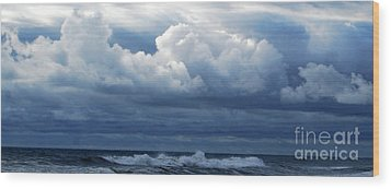 Wood Print featuring the photograph Cloud Bank by Linda Mesibov