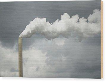 Cloud Factory Wood Print