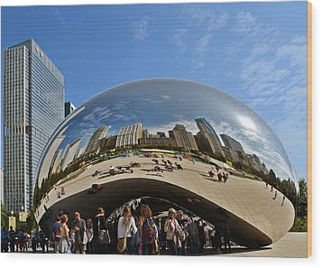 Cloud Gate - The Bean - Millennium Park Chicago Wood Print by Christine Till