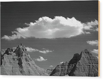 Cloud Over Mountain Range Wood Print by Hiro Oshima - www.zibili.com