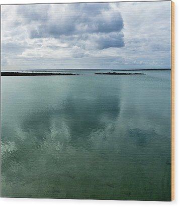 Cloud Reflections Wood Print by Kimberly Jansen Photography