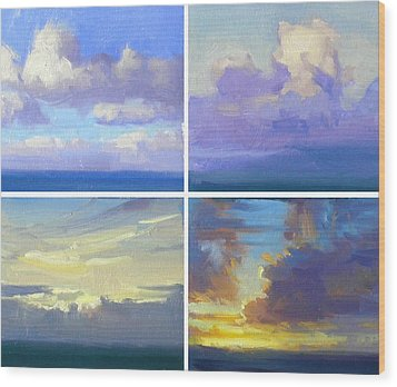 Cloud Studies Wood Print by Richard Robinson