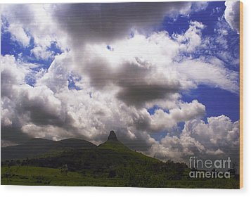 Clouded Hills At Nasik India Wood Print by Sumit Mehndiratta