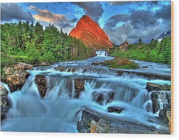Clouds And Waterfalls Wood Print by Scott Mahon
