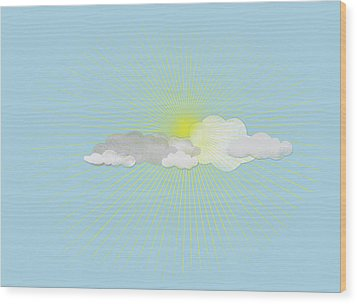 Clouds In Front Of The Sun Wood Print by Jutta Kuss
