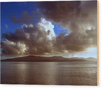 Wood Print featuring the photograph Clouds by Irina Hays