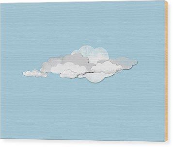 Clouds Wood Print by Jutta Kuss