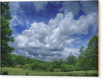 Clouds Wood Print by Matthew Green