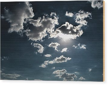 Clouds On A Sunny Day Wood Print by Sumit Mehndiratta