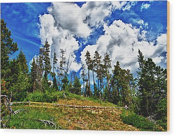 Clouds On My Hill Canada Wood Print by Rick Bragan