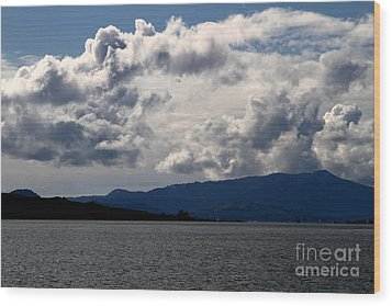 Clouds Over Mount Tamalpais . 7d13713 Wood Print by Wingsdomain Art and Photography