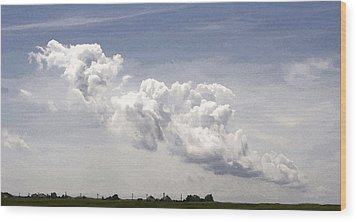Wood Print featuring the photograph Clouds Over The Bay by Michael Friedman