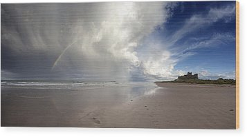 Clouds Reflected In The Shallow Water Wood Print by John Short